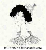 Princess cartoon sketch