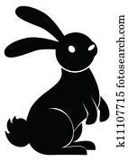 rabbit stand