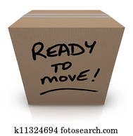 Ready to Move Cardboard Box Moving Relocation