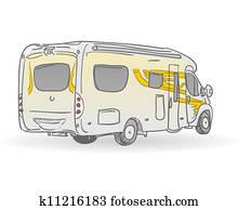 Recreational Vehicle Illustration