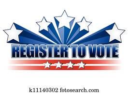 Register to vote illustration