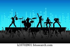 rockgruppe, leistung