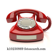 rotes telefon, etikett