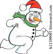 running snowman