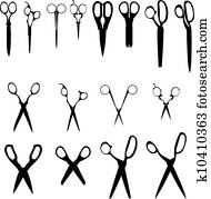 Scissors vector silhouettes