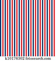 Seamless Red, White & Blue Stripes