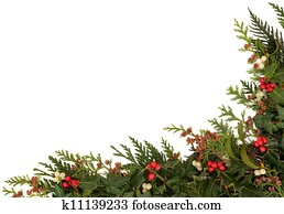 Seasonal Christmas Border
