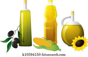 Set of bottle oil