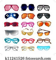 set of sunglasses and eyeglasses for vision correction