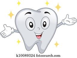 Shiny Tooth Mascot