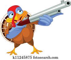 Shooting turkey