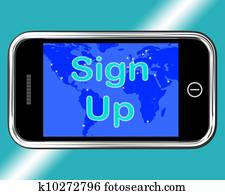 Sign Up Mobile Message Shows Online Registration
