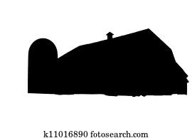 Silhouette barn