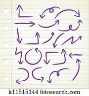simple arrow doodle