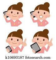 Smart phone people phone talk