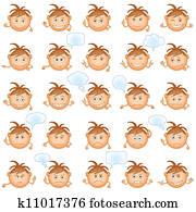 Zeichnungen Smilies Runder Satz K6580044 Suche Clip Art