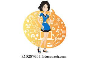 Social Networking Girl