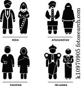South Asia Clothing Costume
