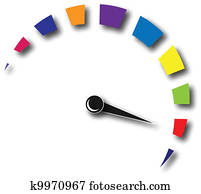 Speed odometer colorful logo