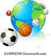 sport, erdball, welt, begriff
