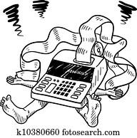 steuer, und, finanzielle beanspruchung, skizze