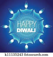 stylish happy diwali background