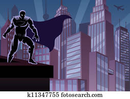 Superhero on Roof