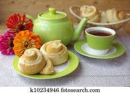 Tea party and buns