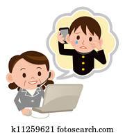 Telephone consultation place
