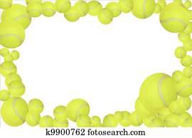 Tennis balls frame, easy to edit