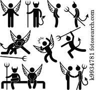teufel, engelchen, spezi, feind, symbol
