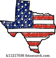 Texas is American sketch