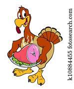 Thanksgiving Turkey With Ham