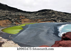 The green lake in Lanzarote