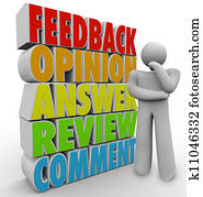 Thinking Person Feedback Comment Review Answer Opinion