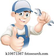 Thumbs up plumber or mechanic