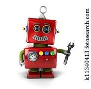 Toy mechanic robot