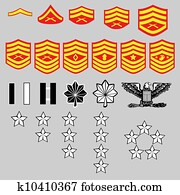 us marine corps, rang, abzeichen