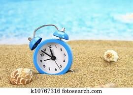 Alarm Clock On The Sand