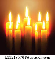 vector glowing candle