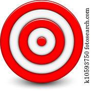 Vector illustration of 3d target