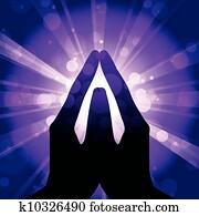 Vector illustration of prayer