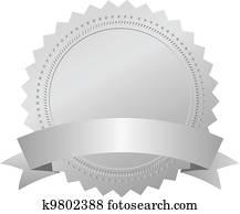 Vector silver award emblem