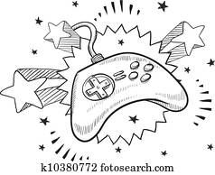 Video game controller sketch