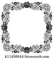 Vintage foliage frame