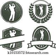 Vintage Golf Logos