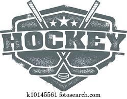 Vintage Hockey Sport Crest
