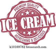 Vintage Ice Cream Stamp
