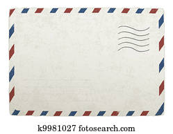 Vintage mailing envelope. Vector template for your designs, EPS 10.
