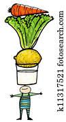 karotte zeichnung stock illustrationen 765 karotte. Black Bedroom Furniture Sets. Home Design Ideas